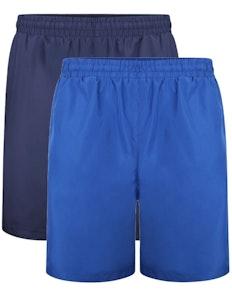 Bigdude Mesh Panel Shorts Royal Twin Pack Royal Blue/Navy