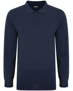 Bigdude Long Sleeve Polo Shirt Navy Tall