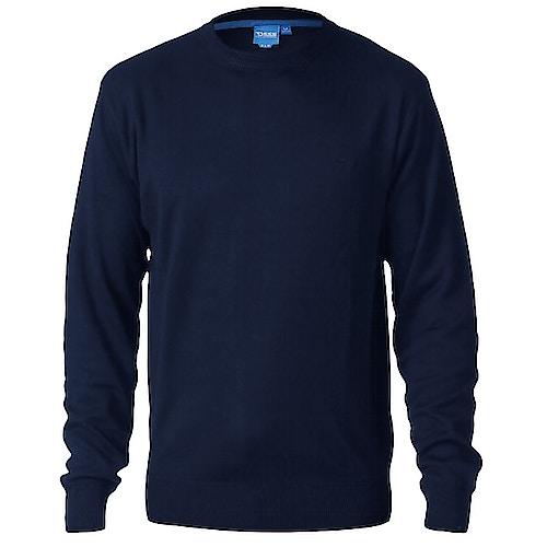 D555 Plain Crew Neck Sweater Navy