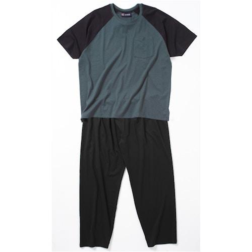 Cotton Valley Long Leg Plain Pyjamas Green