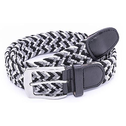 D555 Quinn Multi Coloured Stretch Braided Belt