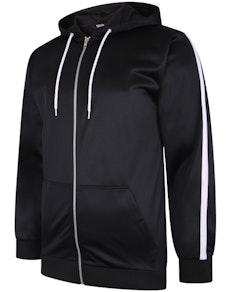 Bigdude Tricot Zip Up Hoody mit Streifen schwarz