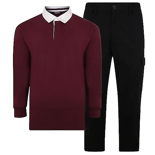 Bigdude Polo Shirt & Cargo Trousers Bundle 3