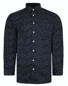 Bigdude Patterned Long Sleeve Shirt Black Tall