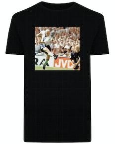 1996 England vs. Schottland Print T-Shirt Schwarz
