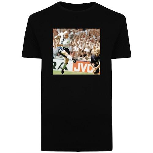 1996 England V Scotland Print T-Shirt Black