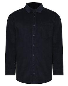 Bigdude Corduroy Shirt Navy Tall