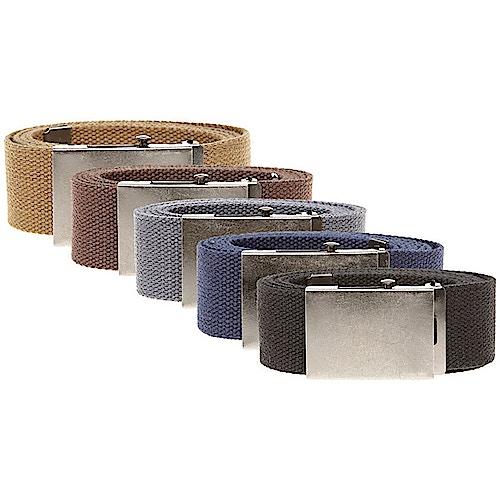 Duke Webbing Canvas Belt - Various Colours