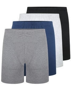 Bigdude 4 Pack Cotton Boxer Shorts Assorted