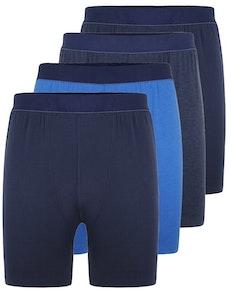Bigdude 4 Pack Boxer Shorts Navy