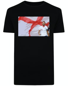 England's Number 9 Print T-Shirt Black