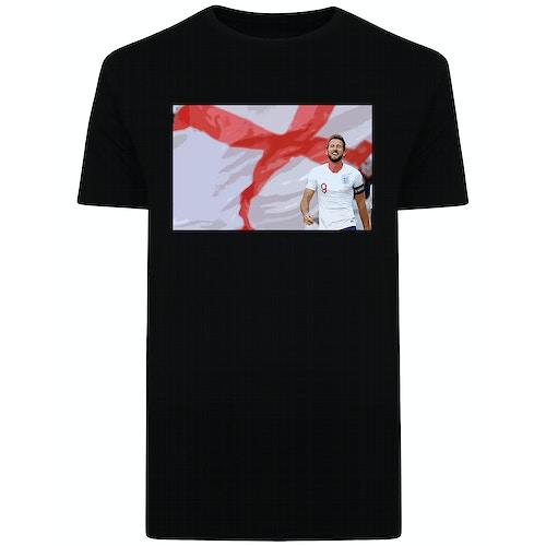 England's Number 9 Print T-Shirt Black