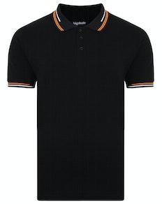 Bigdude Designer Tipped Polo Shirt Black