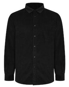 Bigdude Corduroy Shirt Black Tall