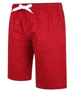 Bigdude Woven Pyjama Lounge Shorts Red