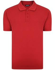 Bigdude Plain Polo Shirt Paper Red Tall