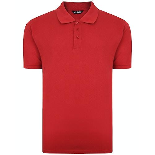 Bigdude Plain Polo Shirt Paper Red Tall