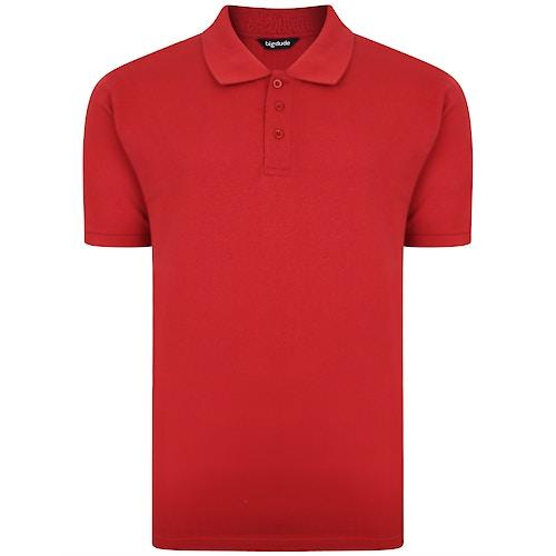 Bigdude Plain Polo Shirt Paper Red