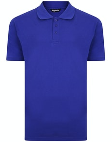 Bigdude Plain Polo Shirt Cobalt Blue Tall