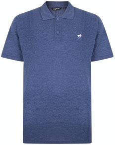 Bigdude Poloshirt Jeansblau