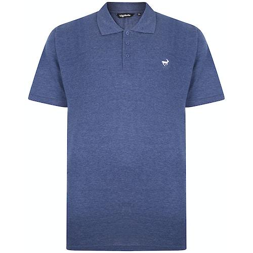Bigdude Embroidered Polo Shirt Dark Denim