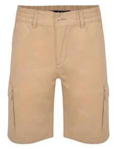 Bigdude Elasticated Waist Cargo Shorts Sand