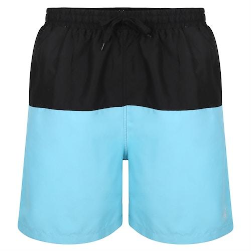 Bigdude Cut & Sew Swim Shorts Black/Light Blue