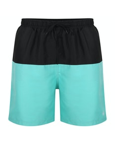 Bigdude Cut & Sew Swim Shorts Black/Turquoise