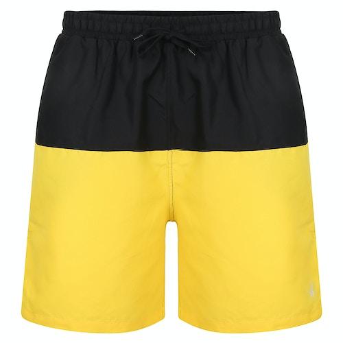 Bigdude Cut & Sew Swim Shorts Black/Yellow