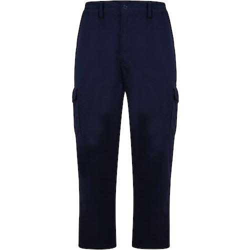 Bigdude Elasticated Waist Cargo Trousers Navy