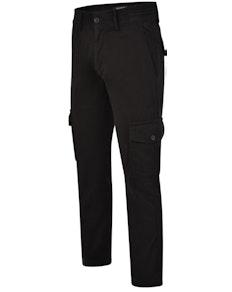 Bigdude Elasticated Waist Cargo Trousers Black Tall