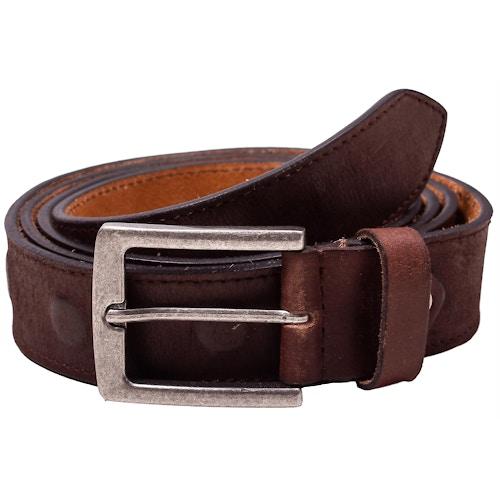 Jackson Embossed Leather Belt Brown