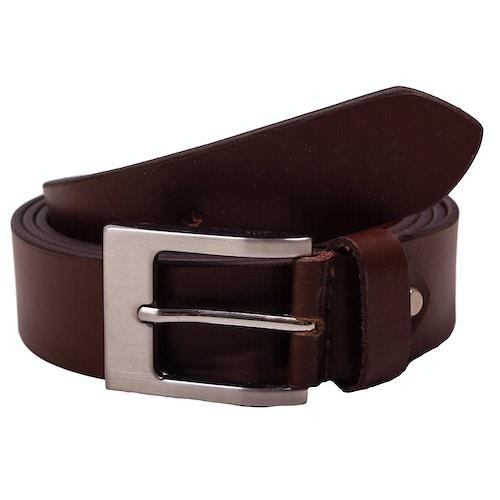 Darren Plain Brown Leather Belt