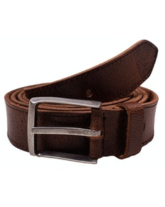 Jacob Used Look Leather Belt Light Brown