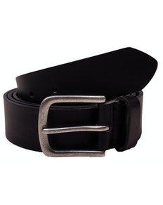 Sean Plain Black Leather Belt