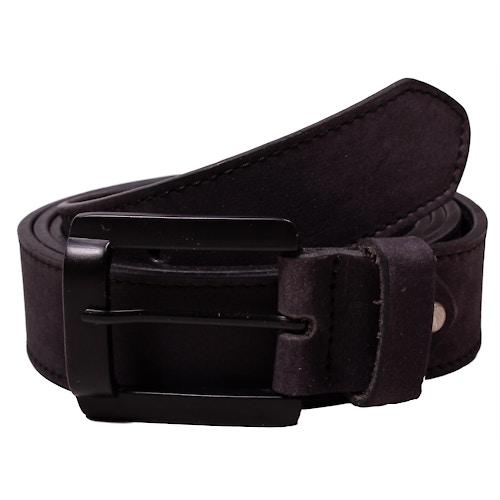 Liam Plain Black Leather Belt