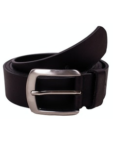 Noah Plain Black Leather Belt