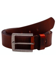 Daniel Washed Look Brown Leather Belt
