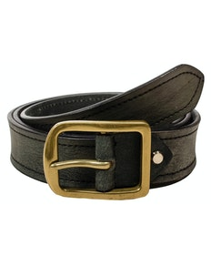 Stephen Leather Melange Belt Grey