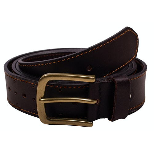 Christopher Leather Perforated Belt Brown