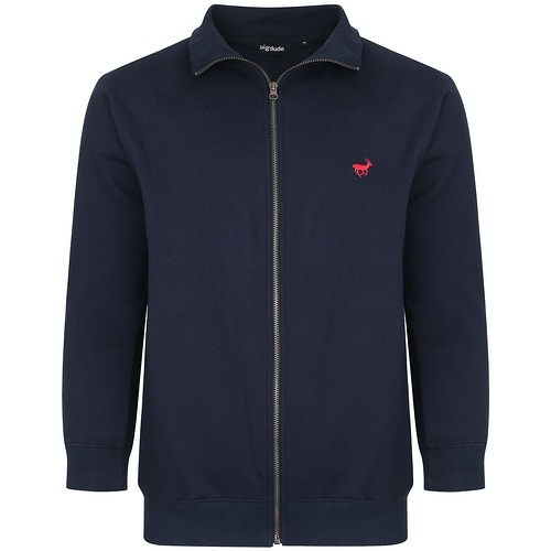 Bigdude Funnel Neck Full Zip Sweatshirt Navy