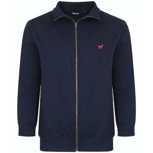 Bigdude Sweatshirt mit Reißverschluss Blau