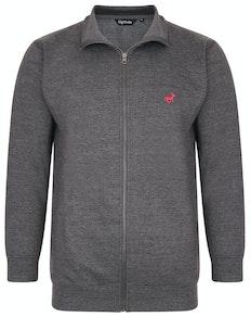 Bigdude Funnel Neck Full Zip Sweatshirt Charcoal