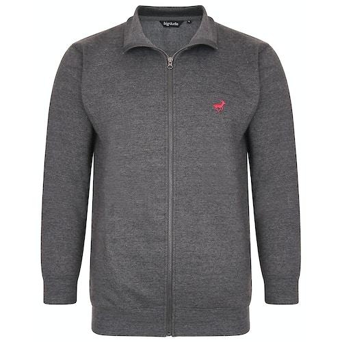 Bigdude Sweatshirt mit Reißverschluss Grau