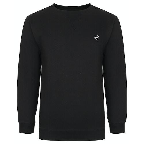 Bigdude Signature Sweatshirt Schwarz Tall Fit