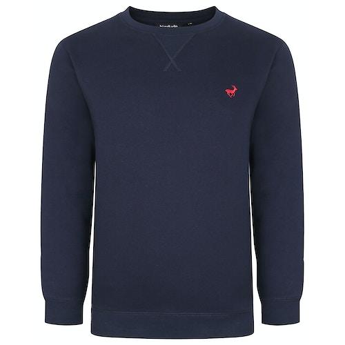 Bigdude Signature Sweatshirt Marineblau Tall Fit