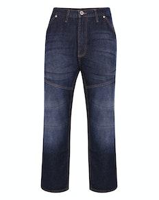 Bigdude Super Loose Relaxed Fit Jeans Dark Wash