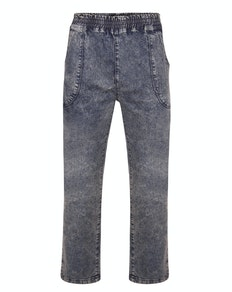 Bigdude Acid Wash Stretch Jeans Grau
