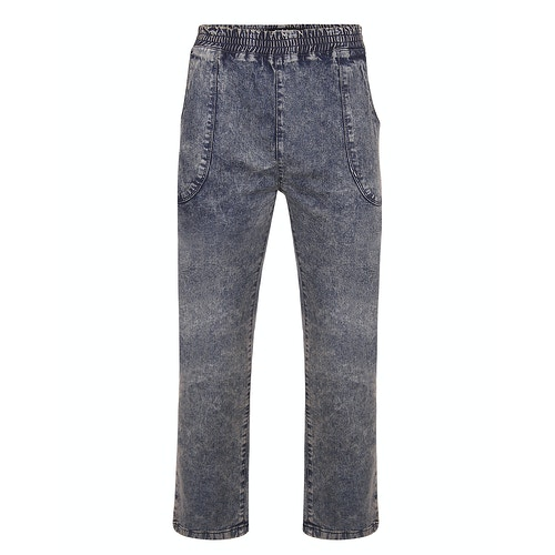 Bigdude Acid Wash Elasticated Waist Stretch Jeans Antique