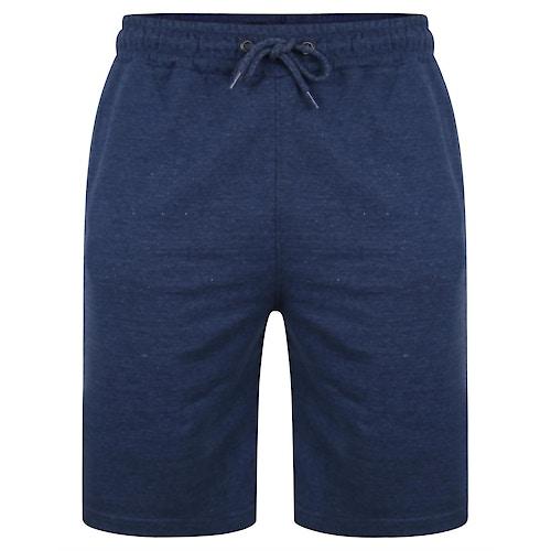 Bigdude Loop Back Jogger Shorts Denim Marl